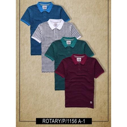 T-Shirt_Collar Printed_Half Sleeve_A