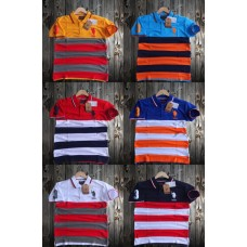 T-Shirt_Casual_Half Sleeve_Striped_collar