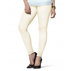 Women's Cream Lycra Leggings