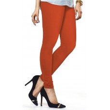 Women's Orange Lycra Leggings