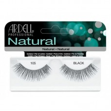 Ardell Natural Strip Lashes - 105 Black (1 pair of Eyelashes)